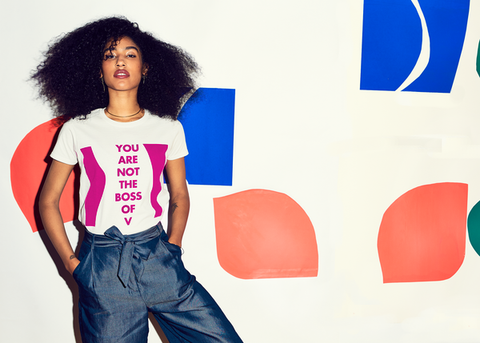 YOU ARE NOT THE BOSS OF V : Unisex Affirmation Tee