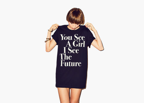 You See A Girl : Unisex Affirmation Tee - Black/White