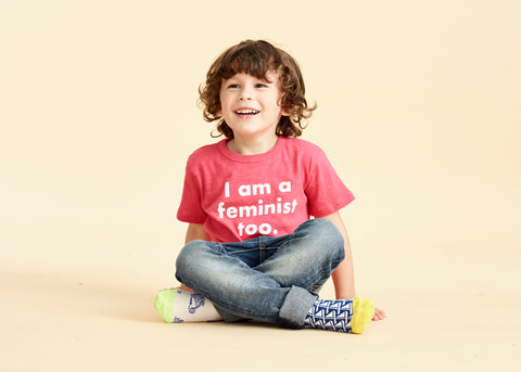 I Am A Feminist Too. : prinkshop x J.Crew Boy's Tee