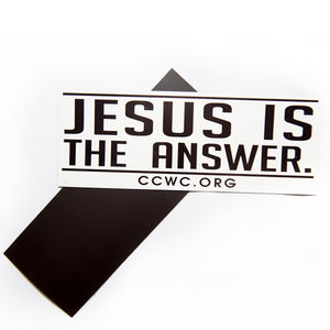 Jesus Is The Answer Car Magnets