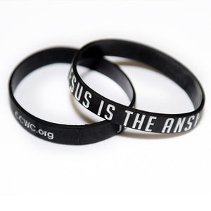 Jesus Is The Answer Wristbands
