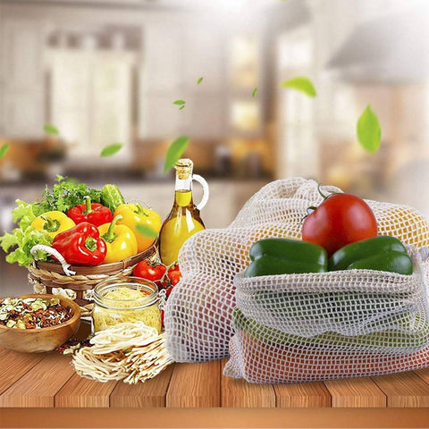 Organic Cotton Mesh Produce Bags - EcoSpurs