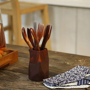 Reusable Wooden Cutlery Set - EcoSpurs