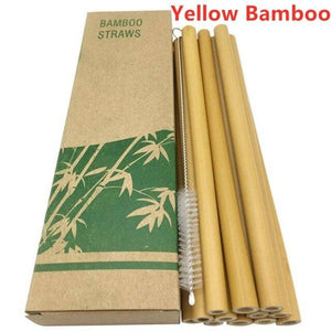 Open image in slideshow, Reusable Bamboo Straws - EcoSpurs