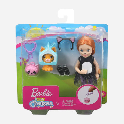Barbie Club Chelsea Dress-Up Dolls Cat Costume Toy For Girls