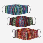 Tropiko Set of 3 Ethnic Printed Face Mask