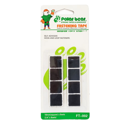 "Polar Bear Fastening Tape 3/4"" x 8 Sets"