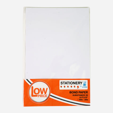 Low Price Bond Paper Sub 20 Short 50 Sheets