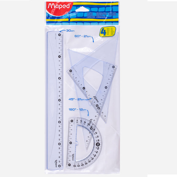Maped Ruler Set 2 Triangle 1 Protracotr 1 Ruler