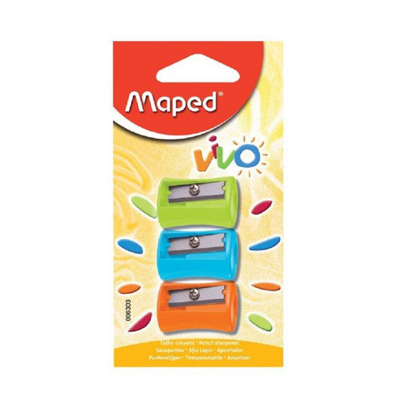 Maped Vivo Pencil Sharpener Pack of 3