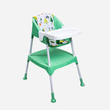 Evenflo Trilo 3-In-1  Convertible High Chair Green Print