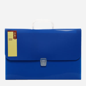 Expanding Envelope with Handle 13 Pockets Blue