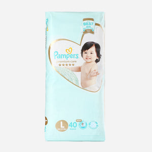 Pampers Premium Care Tape Diapers Large/40S