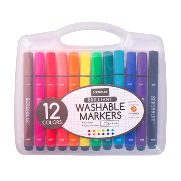 Scribbler Washable Markers 12 Colors