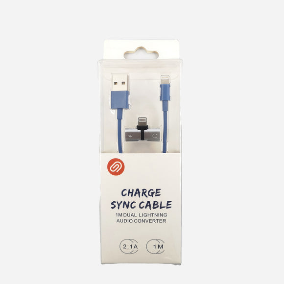 SSI Lightning Cable w/ Adapter S102 Blue