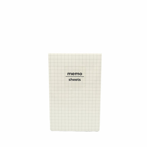 Padded Memo Pad Grid Cream