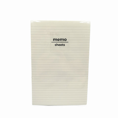 Padded Memo Pad Ruled Cream