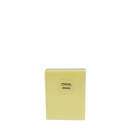Padded Memo Pad Dotted Colored