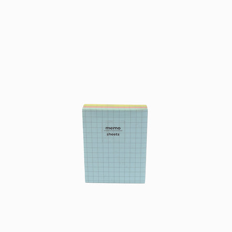 Padded Memo Pad Grid Colored