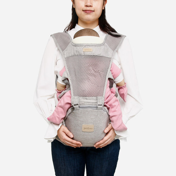 Picolo 6-Way Mesh Panel Hip Seat Baby Carrier Grey