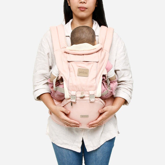 Picolo 6-Way Mesh Panel Hip Seat Baby Carrier Pink