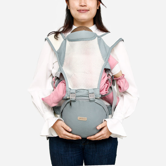 Picolo 6-Way All-Mesh Hip Seat Baby Carrier Blue