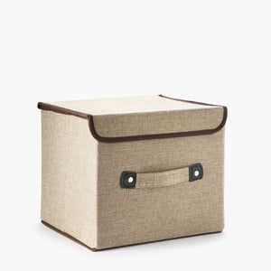 Small Collapsible Organizer Box - Beige