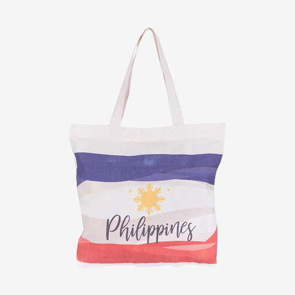 Kultura Independence 3 Stars & Sun Canvas Tote Bag