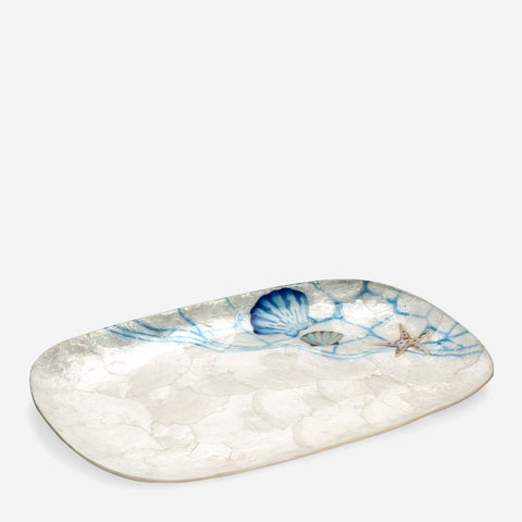 Tahanan by Kultura Capiz Rectangular Plate with Sea Shells Design