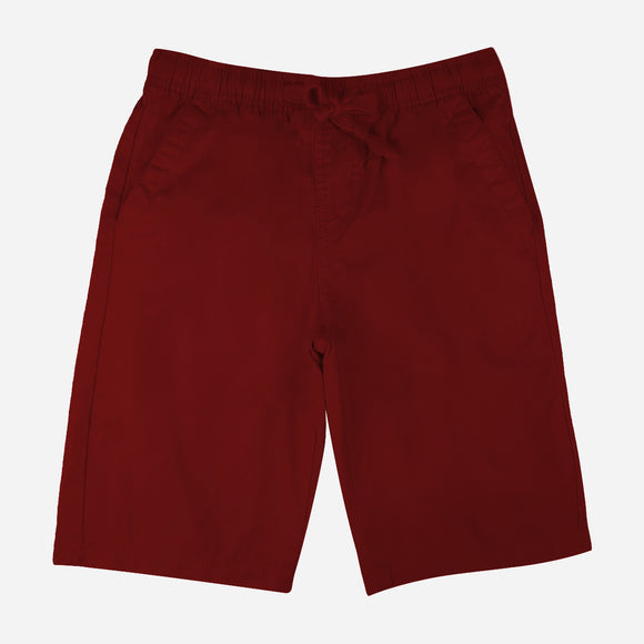 JUST JEANS BOYS' EASY SHORTS IN MAROON