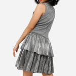 True Love Tiered Flounce Dress Black