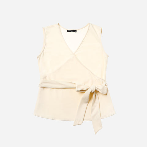 SM Woman Prima Sleeveless Overlap Blouse Cream
