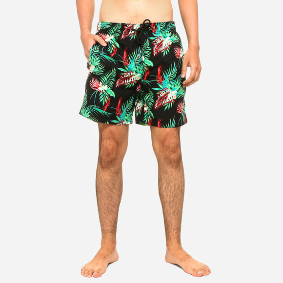 Coco Republic Orchid Leaves Boardshorts Navy Blue