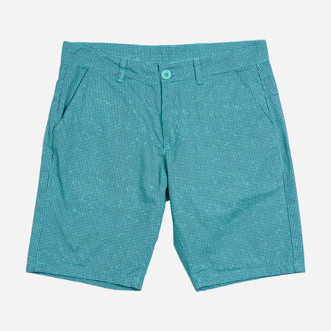 Smartbuy Men's Printed Chino Twill Shorts in Teal