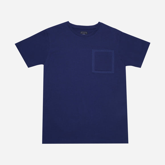 Men's Club Printed Border Pocket Tee