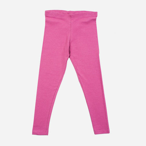 Smartbuy Girl's Colored Plain Leggings in Pink