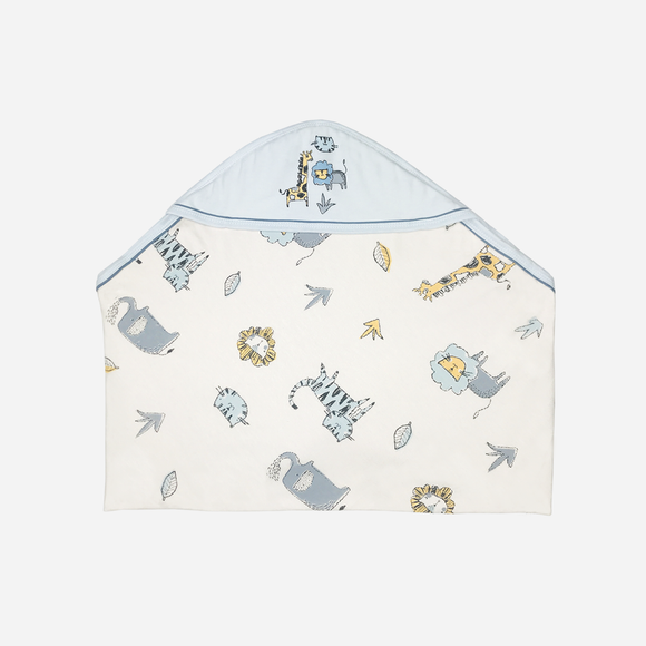 HUSH HUSH NEWBORN CAT PRINT BLANKET WITH HOOD