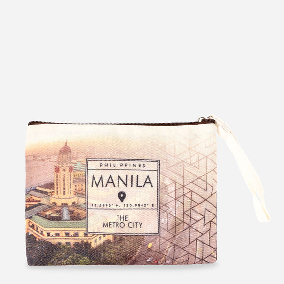 Kultura Geo Landmark Canvas Pouch