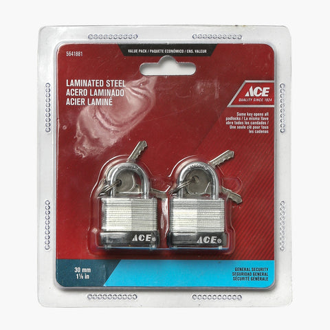 Ace Hardware 2-pack Laminated Steel Padlock 30mm