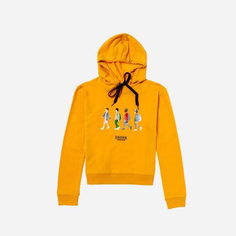 Stranger Things Hoodie Friends Mustard