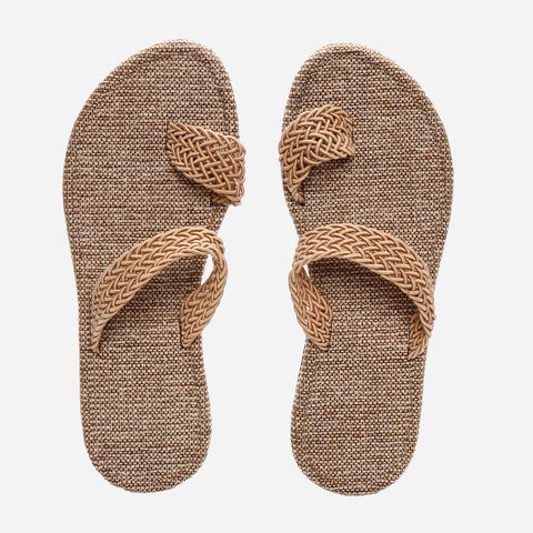 Tropiko Native Jute Slippers With Toe Strap