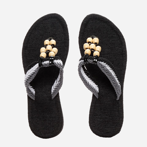 Tropiko Jute Slippers With Wooden Strap