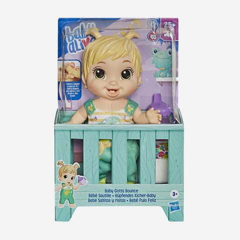 Baby Alive Baby Gotta Bounce Blonde Toy For Girls