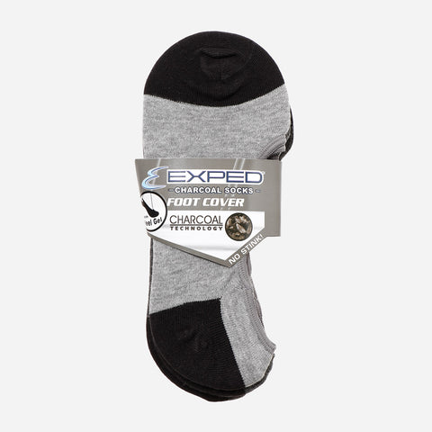 Exped Mens Casual Socks with Heel Gel Cotton and Spandex Foot Cover Black