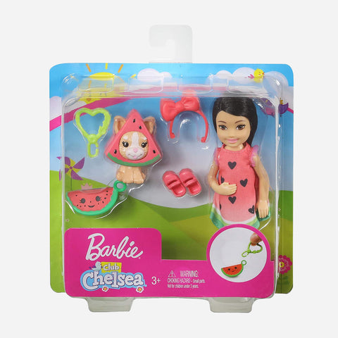 Barbie Club Chelsea Dress-Up Dolls Watermelon Costume Toy For Girls