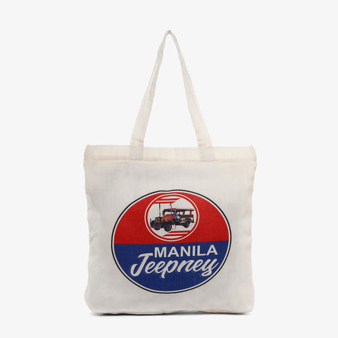 Kultura Two Colors Manila Jeepney Tote Bag