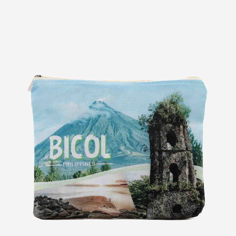 Kultura Mayon Volcano Canvas Pouch