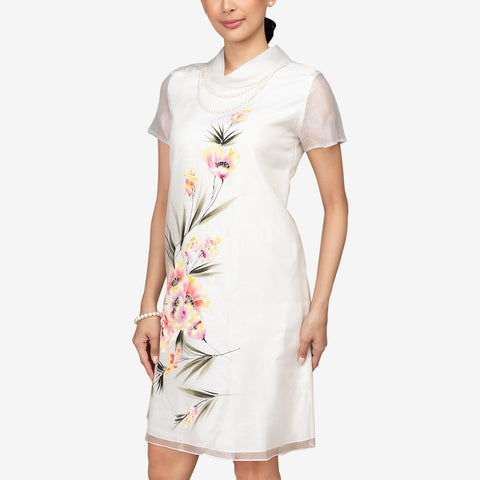 Nuevo Ystilo Women's Organza Barong Dress