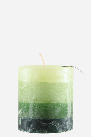 Bright Ideas Singletone Pillars Candle Lime Small