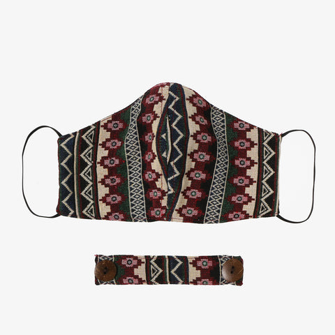 Tropiko Ethnic Printed Face Mask with Ear Saver